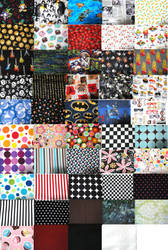 Fabric swatches by chat-noir