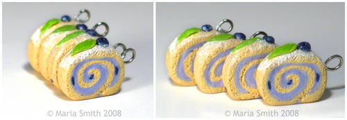Blueberry Sponge Cake Charms by chat-noir