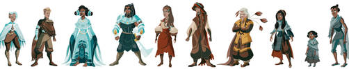 'Pilgrims', Full Character Lineup by CherryRiceSammich