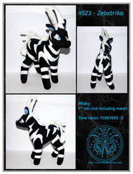Plush - Zebstrika - For Sale by RadiantGlyph