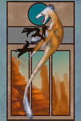 004 - Velociraptor Mongoliensis by RadiantGlyph
