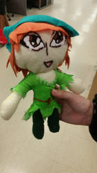 Peter Pan Plushie by DanicaSpirit