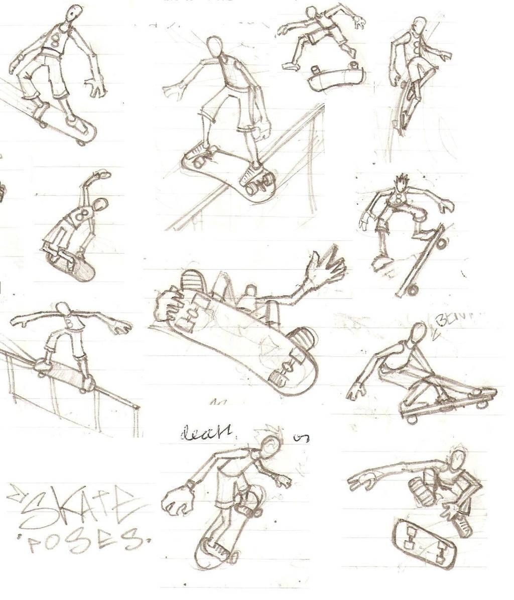 skate poses by Tua