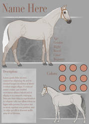 Simple Reference sheet by Rhaine-Horses