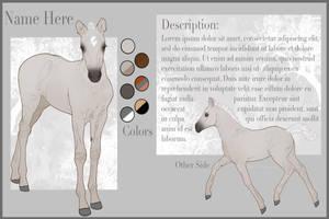 Foal Sheet  (yhh) by Rhaine-Horses