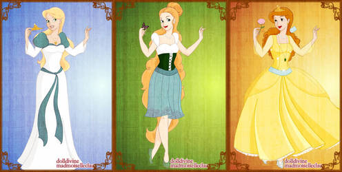 Odette, Thumbelina + Anastasia by AppreciatesArt