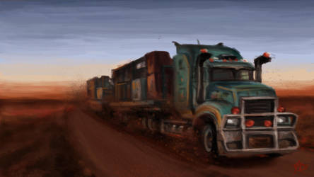 Road train by Crateris