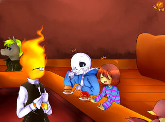 .: Lunch at Grillby's :. by Finni-NF