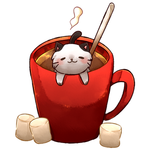 Hot Cocoa Cat by Finni-NF