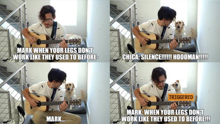 Never play music to chica!!!!! by Prince-riley
