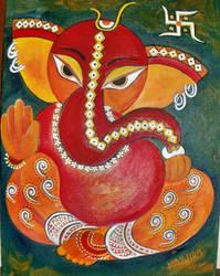 Vibrant Ganesha by manjulak