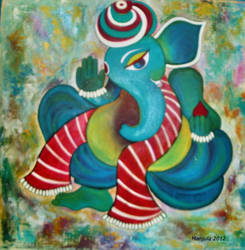 Holi Ganesha by manjulak