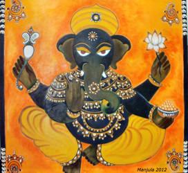 Suprabhat Ganesha by manjulak