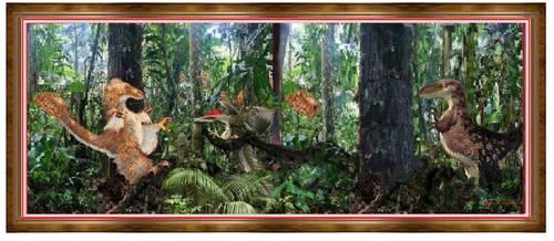 T-Rex Jungle Hunt by jimdwyrick