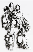 Robotech STENCIL 2nd by crusty-punk