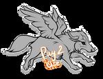 P2U Winged Canine Base! by nannynunu
