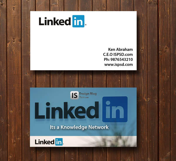 Linkedin Business Card Template By Hdalive On Deviantart