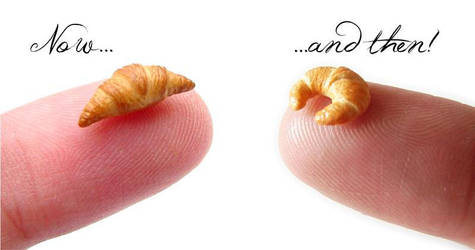 Croissants - NJD Miniatures - Now and Then! by NJD-Miniatures