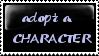 Adopt A Character stamp by Kokoro-Hane