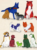 FE9'10 - Greil's Mercenaries dogs by Kiu227