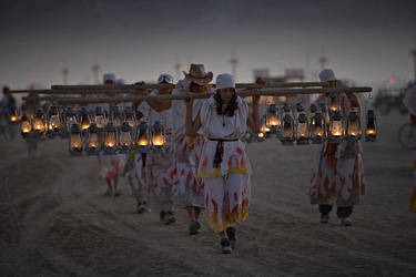 Burning Man - Lamp Lighters by NVMark