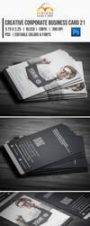 Creative Corporate Business Card 21 by EgYpToS