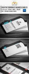 Creative Corporate Business Card 23 by EgYpToS
