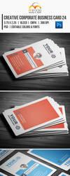 Creative Corporate Business Card 24 by EgYpToS