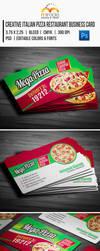 Creative Italian Pizza Restaurant Business Card by EgYpToS