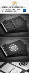 Creative Lawyer Business Card #4 by EgYpToS