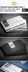 Creative Lawyer Business Card #5 by EgYpToS