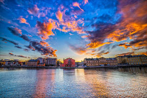 Amazing Sky over Karlskrona by qwstarplayer