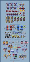 Sonic the Hedgehog - Game Gear Badniks 16-bit by retrobunyip