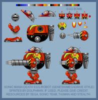 Sonic Mania Death Egg Robot (Genesis style) by retrobunyip