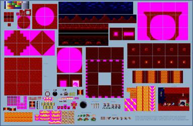 Sonic styled Planet Medivo (Jazz Jackrabbit) by retrobunyip