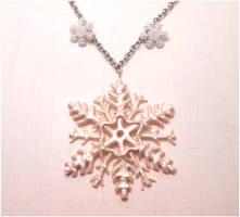 Handmade snowflake, frozen snowflake by MiniSweetx