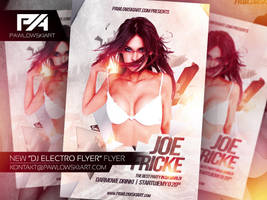 DJ Electro Party Flyer Template by pawlowskiart