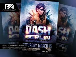 DJ Electro v2 Party Flyer Template by pawlowskiart