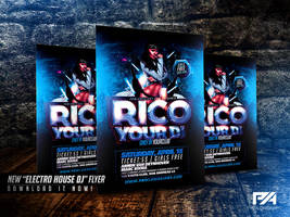 Electro House DJ Flyer Template by pawlowskiart