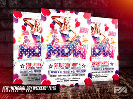 Memorial Day Weekend PSD Flyer Template by pawlowskiart
