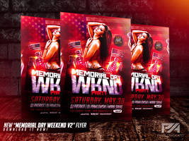 Memorial Day Weekend v2 PSD Flyer Template by pawlowskiart