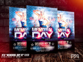 Memorial Day v2 PSD Flyer Template by pawlowskiart
