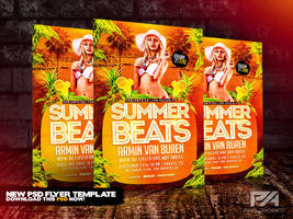 Summer Beats Party Flyer Template by pawlowskiart
