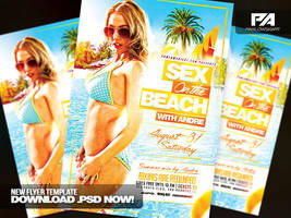 Sex On The Beach v2 Party Flyer Template by pawlowskiart
