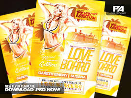 Love on Board Party Flyer Template by pawlowskiart