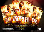 Tropical Latin Party Flyer Template by pawlowskiart