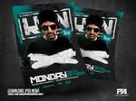Club DJ Minimal Flyer PSD Template by pawlowskiart