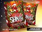 Sexy Santa Party Christmas Flyer Template by pawlowskiart