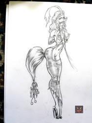 Pretty Pony Princess sketch by SinnerDom