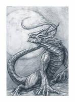 Moon Dragon by Sephiroth-Art